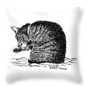Tidying Up - Art By Bill Tomsa Throw Pillow
