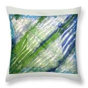 Tie Dye Art. Rainforest In Spring Throw Pillow
