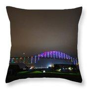 Tie Dye Bridge Throw Pillow