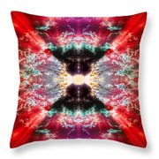 Tie Dye Sky Throw Pillow