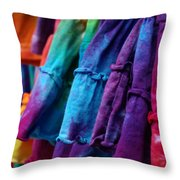 Tie Dyed  Throw Pillow