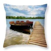 Tied To The Jetty Throw Pillow