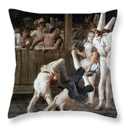 Tiepolo: Acrobats, 18th C Throw Pillow