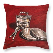 Tiffin Carrier - Still Life Throw Pillow