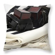 Tifillin And Talis Throw Pillow