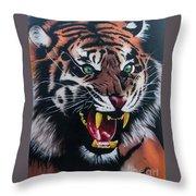 Tigar Snarl Throw Pillow