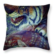Tiger And Deer Throw Pillow