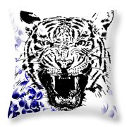 Tiger And Paisley Throw Pillow