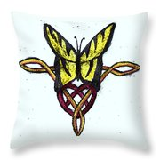 Tiger-butterfly Celtic Double Knot Throw Pillow