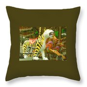 Tiger Carousel Throw Pillow