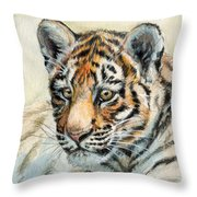 Tiger Cub Portrait 865 Throw Pillow
