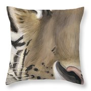 Tiger Face Throw Pillow