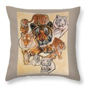 Tiger Haven Throw Pillow