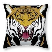 Tiger Head Throw Pillow
