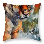Tiger Hotty Totty Style Throw Pillow