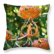 Tiger Lilies Art Prints Canvas Summer Tiger Lily Flowers Throw Pillow