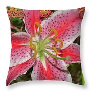 Tiger Lilly Throw Pillow
