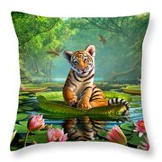 Tiger Lily Throw Pillow