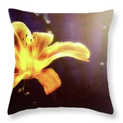 Tiger Lily On Waters Edge Throw Pillow