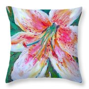 Tiger Lily Passion Throw Pillow