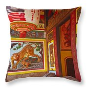 Tiger Mural Throw Pillow