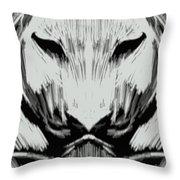 Tiger No.7 Throw Pillow