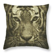 Tiger Over Dictionary Page Throw Pillow