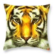 Tiger Painted Throw Pillow