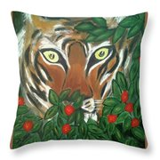 Tiger Prey  Throw Pillow
