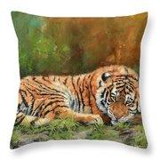 Tiger Repose Throw Pillow