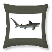 Tiger Shark Side View Throw Pillow