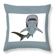 Tiger Shark Underside Throw Pillow