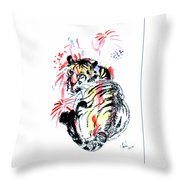 Tiger Siesta Throw Pillow