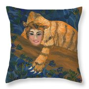 Tiger Sphinx Throw Pillow