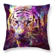 Tiger Surreal Painting Predator  Throw Pillow