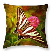 Zebra Swallowtail Butterfly - Digital Paint 3 Throw Pillow