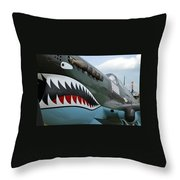 Tiger Teeth Throw Pillow