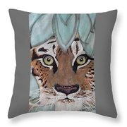 Happy's 2015 Tiger Tiger Throw Pillow
