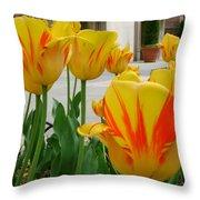 Tiger Tulips Throw Pillow