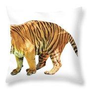 Tiger White Background Throw Pillow