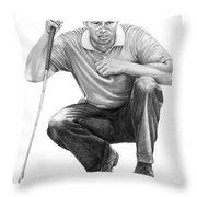 Tiger Woods Crouching Tiger Throw Pillow