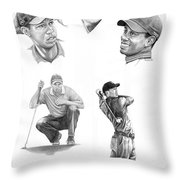 Tiger Woods- Full Circle Throw Pillow