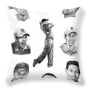 Tiger Woods-murphy Elliott Throw Pillow