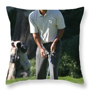 Tiger Woods P Throw Pillow