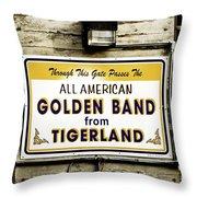 Tigerland Band Throw Pillow by Scott Pellegrin