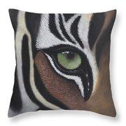 Tiger's Eye Throw Pillow