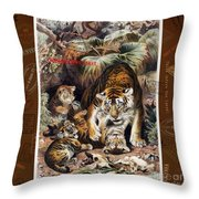 Tigers For Responsible Tourism Throw Pillow