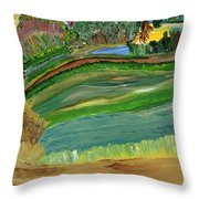 Tight Knit Community Throw Pillow