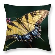 Tigress And Verbena Throw Pillow