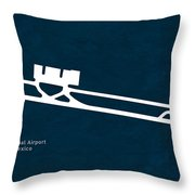Tij Tijuana International Airport In Tijuana Mexico Runway Silho Throw Pillow